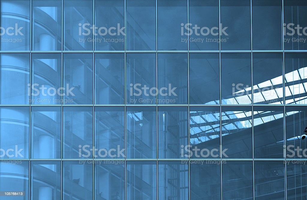 Blue structural glazing royalty-free stock photo