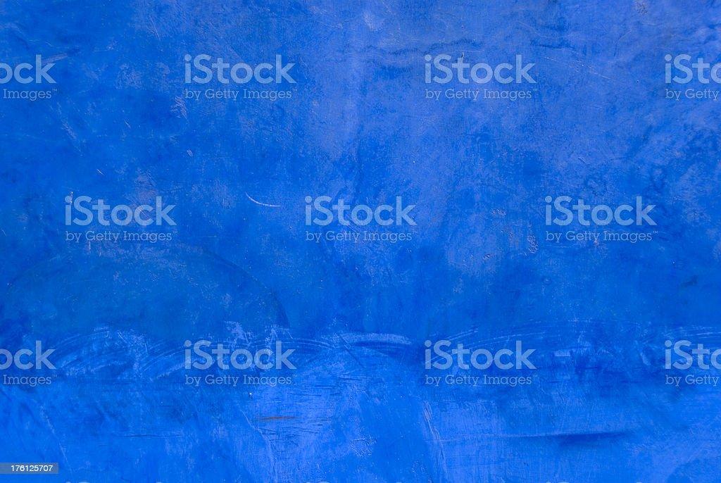 Blue stucco wall stock photo