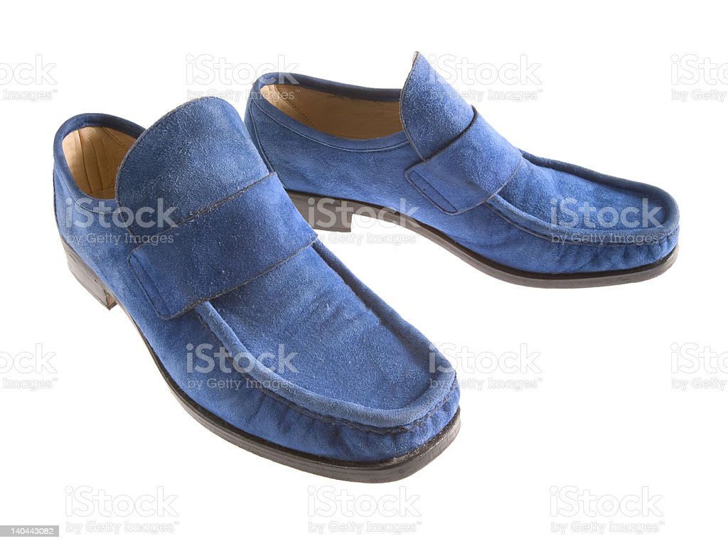 Blue Suede Shoes stock photo