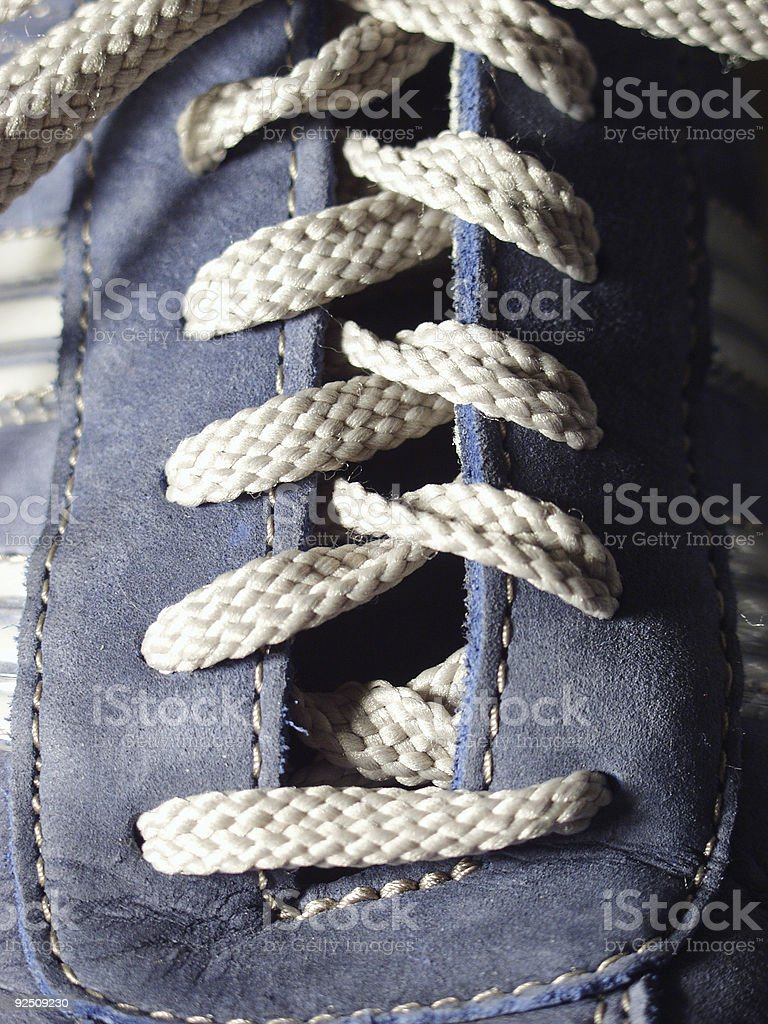 Blue Suede Shoes royalty-free stock photo