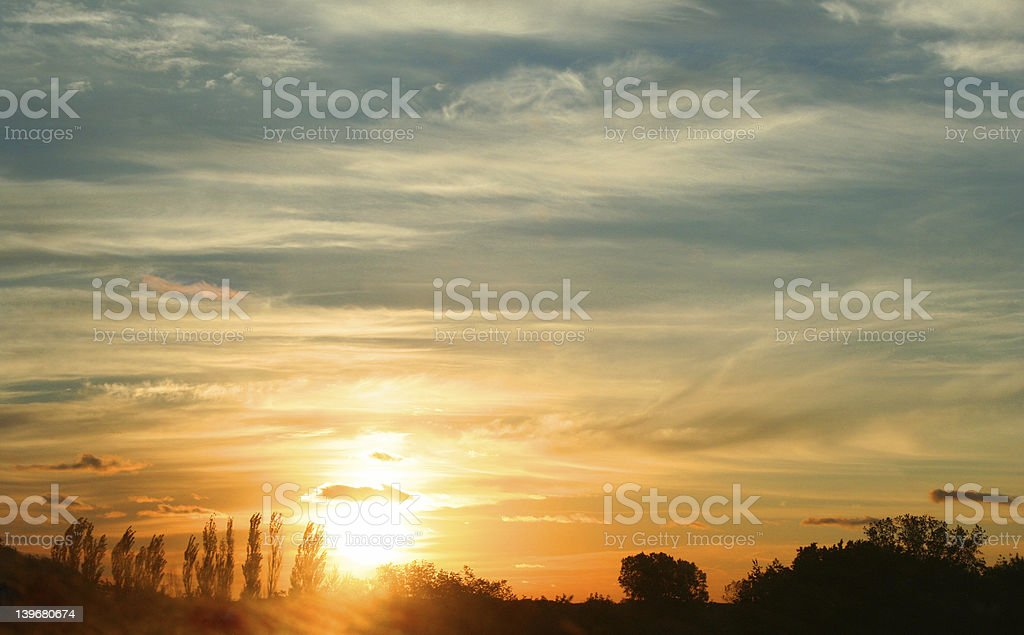 Blue Sun Rise #1 royalty-free stock photo