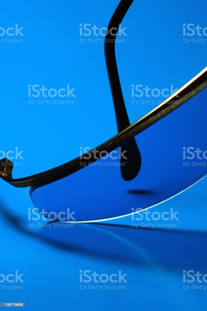 Blue Sunglasses royalty-free stock photo