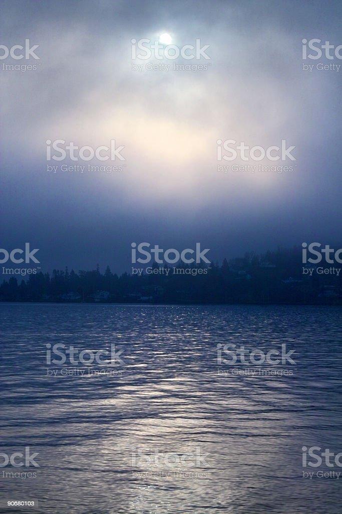 Blue Sunrise royalty-free stock photo