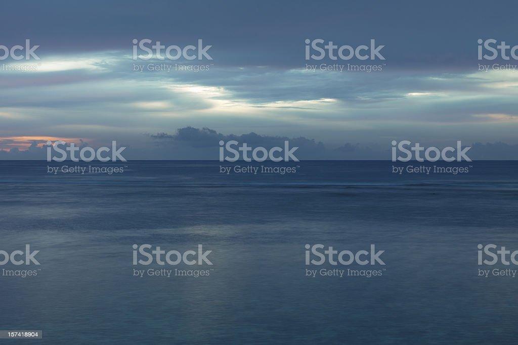Blue Sunset Seascape royalty-free stock photo