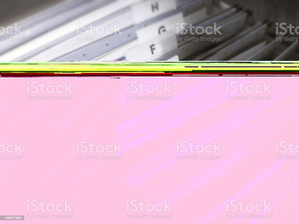 Blue suspension files stock photo