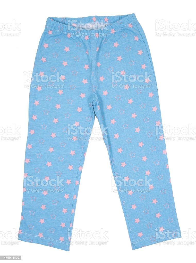 Blue sweatpants stock photo