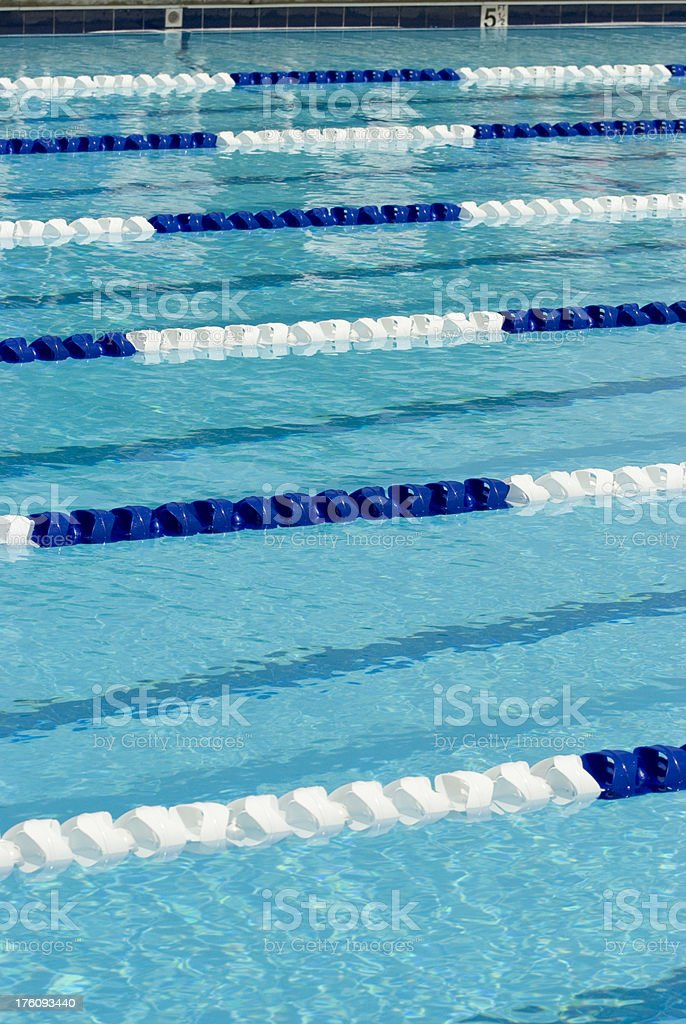 Swimming Pool Lane Lines Background blue swimming pool lane line marker in the water vertical stock