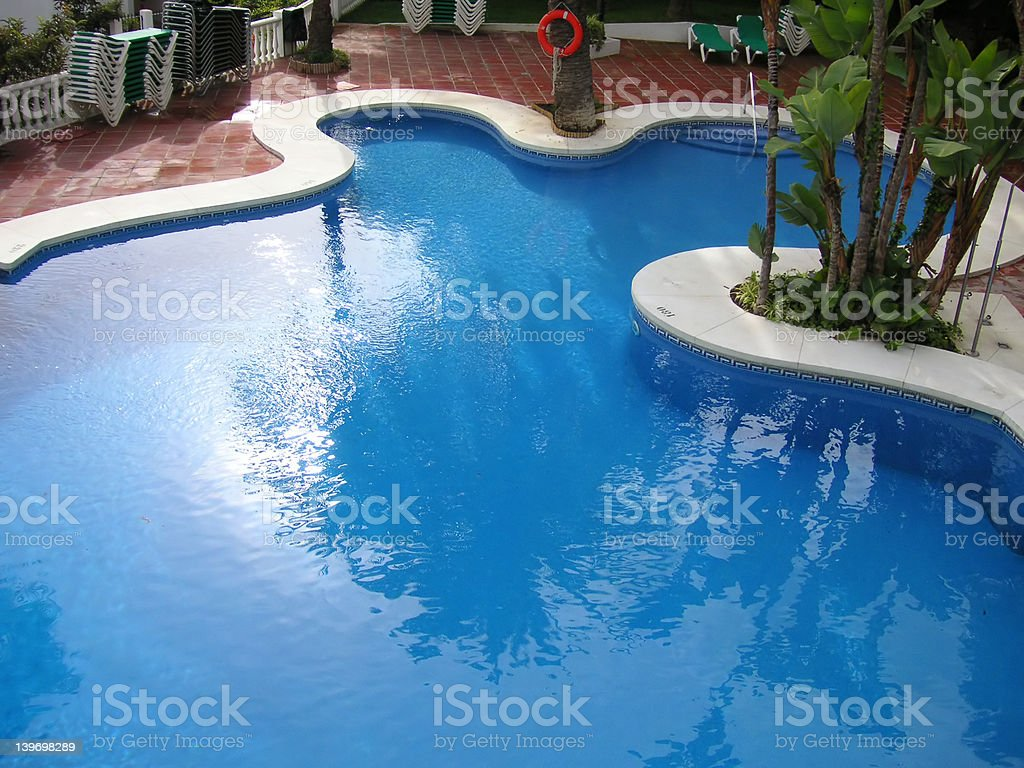 blue swimming pool royalty-free stock photo