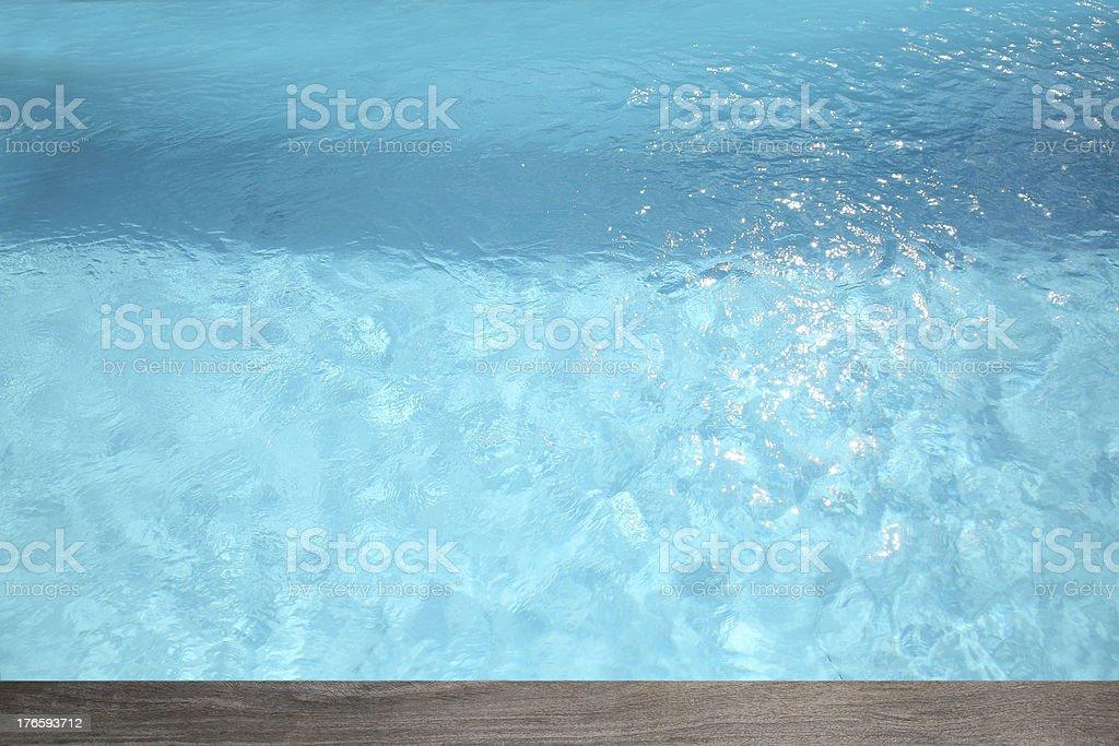 Blue swimming pool royalty-free stock photo