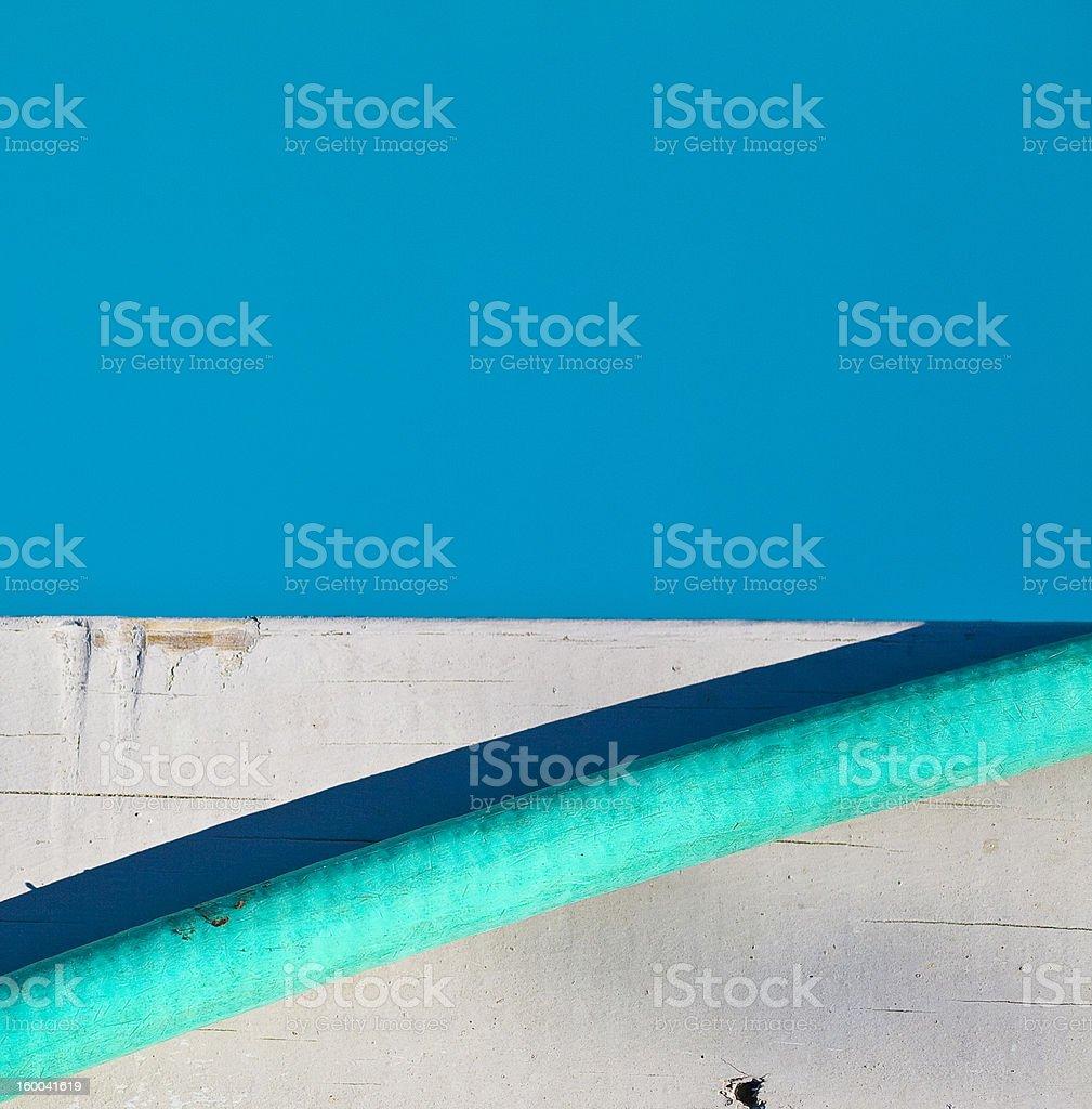 blue swimming pool teal garden hose stock photo