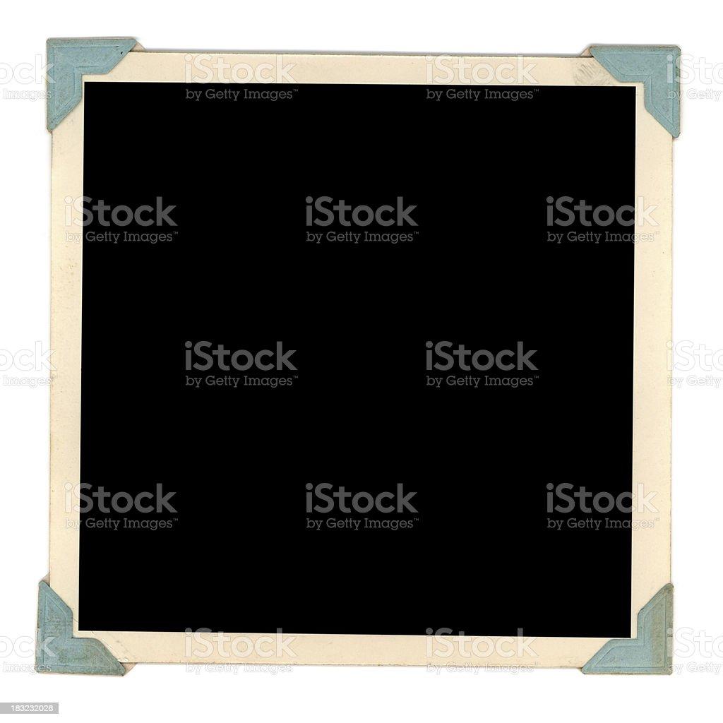 blue tab frame stock photo