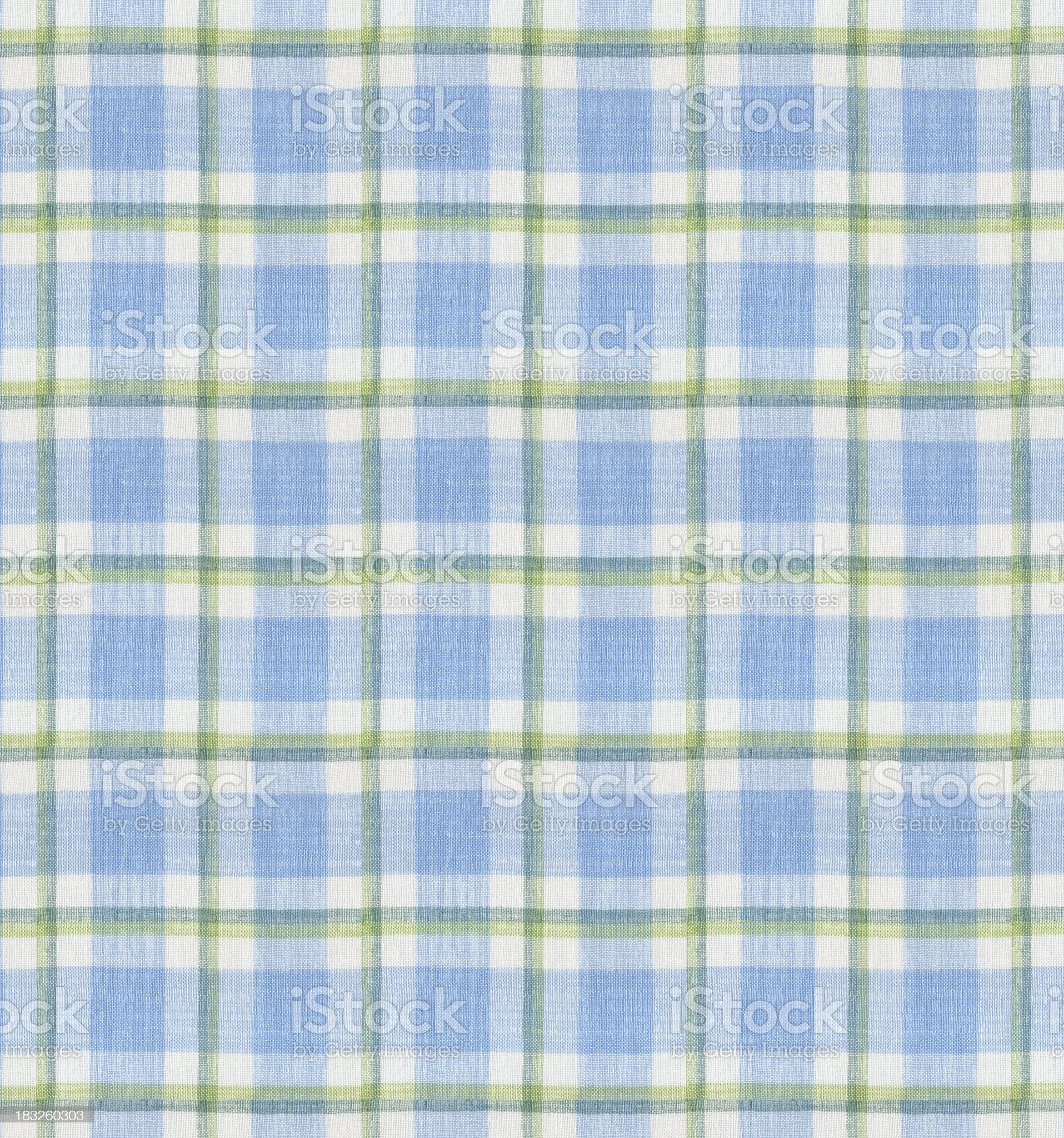 Blue Tablecloth Pattern royalty-free stock photo