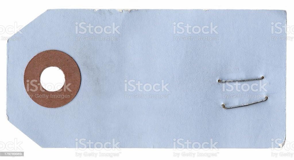 Blue Tag royalty-free stock photo