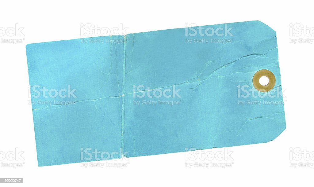 Blue Tag royalty-free stock photo