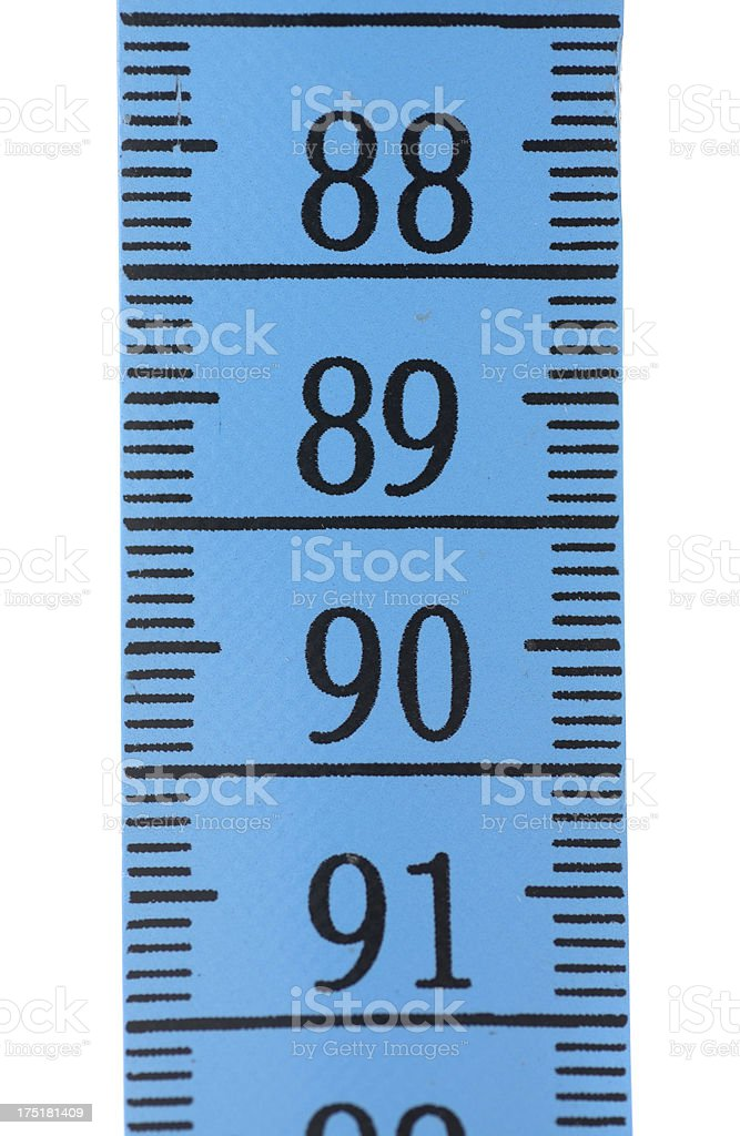 blue tape measure - 90 royalty-free stock photo
