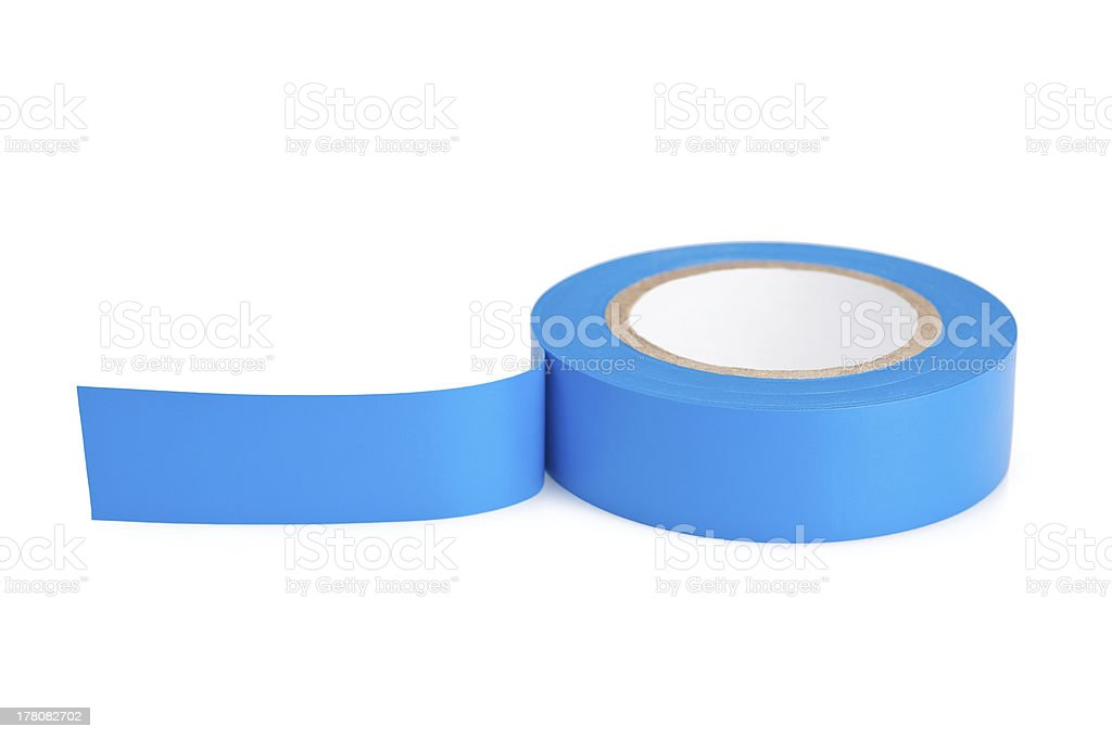 Blue tape stock photo
