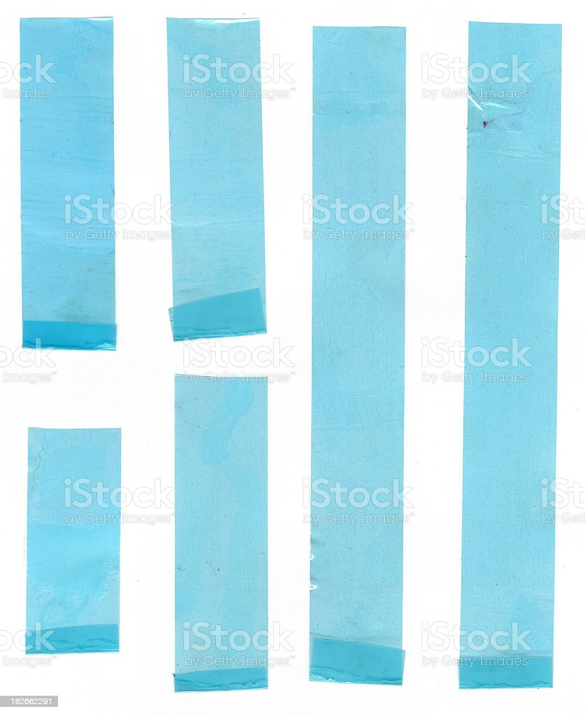 blue tape royalty-free stock photo