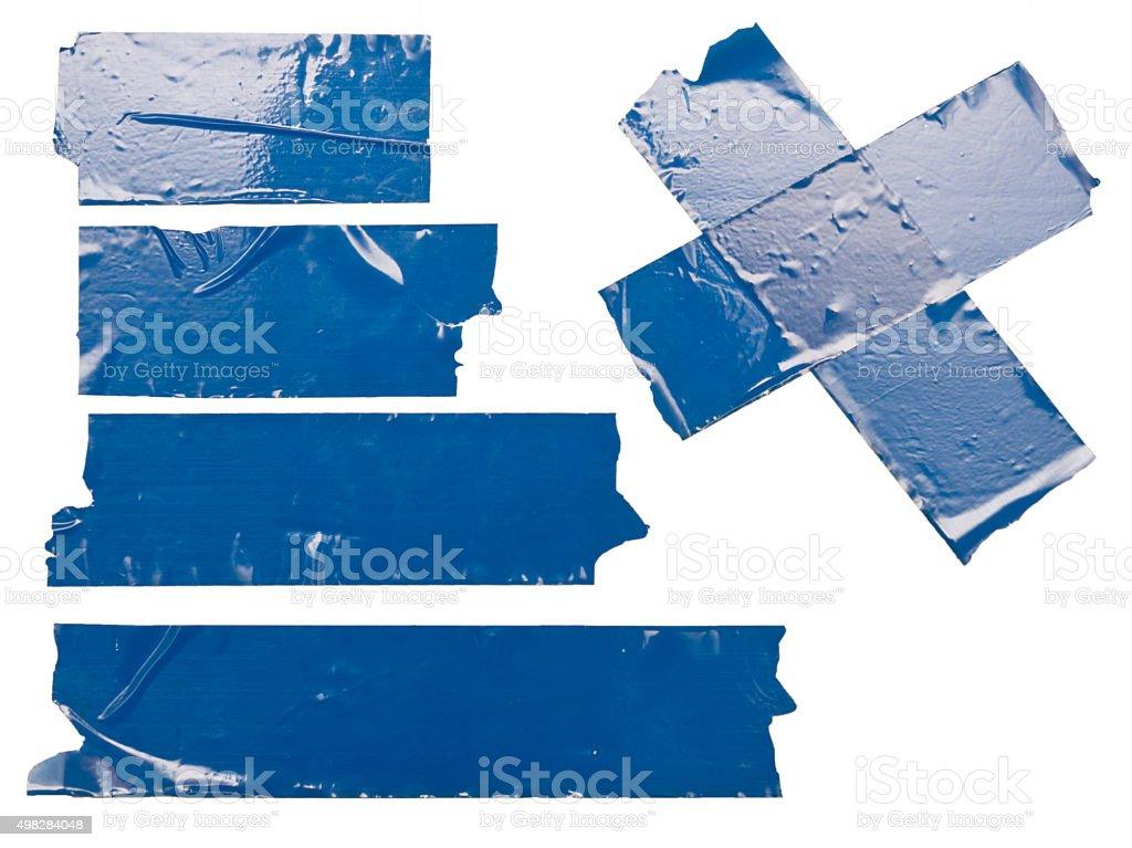 blue tape stock photo