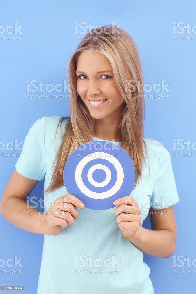 Blue Target royalty-free stock photo