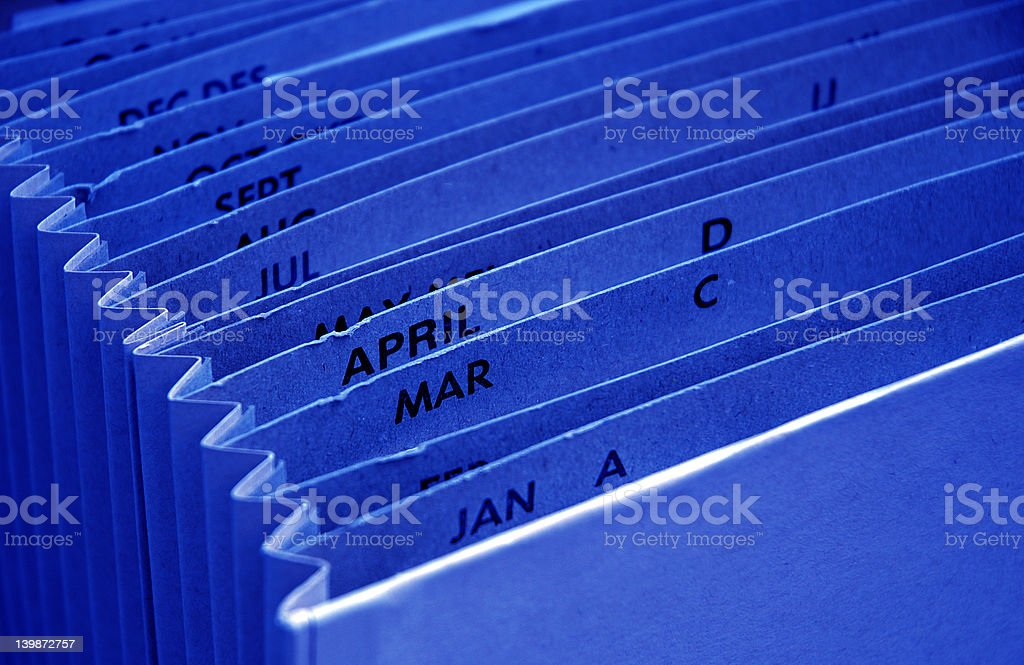 Blue tax budget file royalty-free stock photo