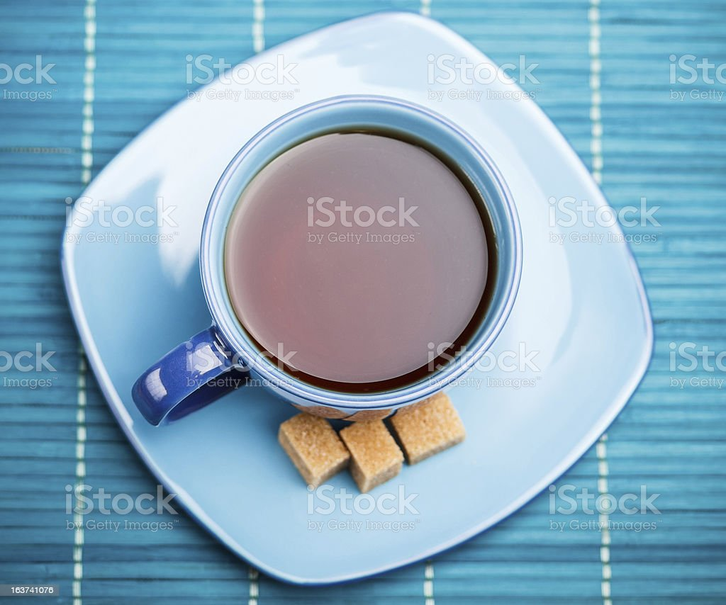 Blue tea cup royalty-free stock photo