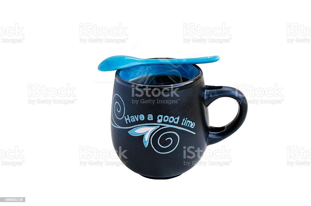 Blue Tea Mug stock photo