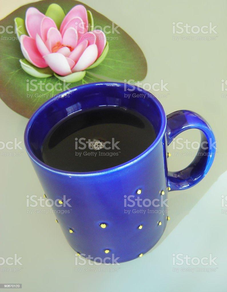Blue tea mug royalty-free stock photo