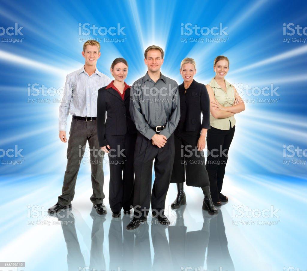 Blue Team royalty-free stock photo