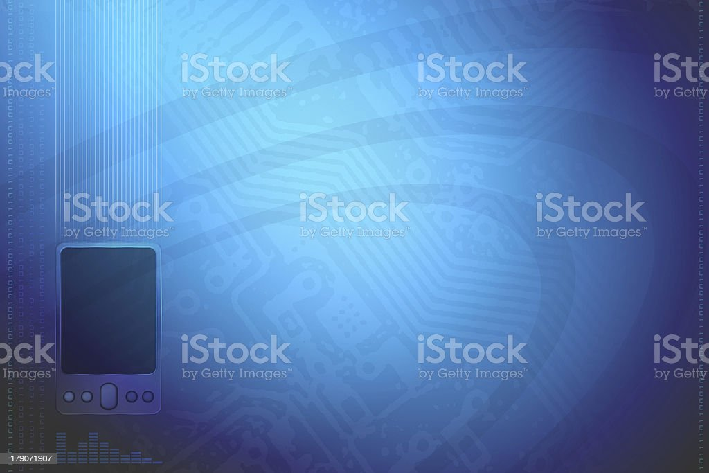 Blue Technology BG royalty-free stock photo
