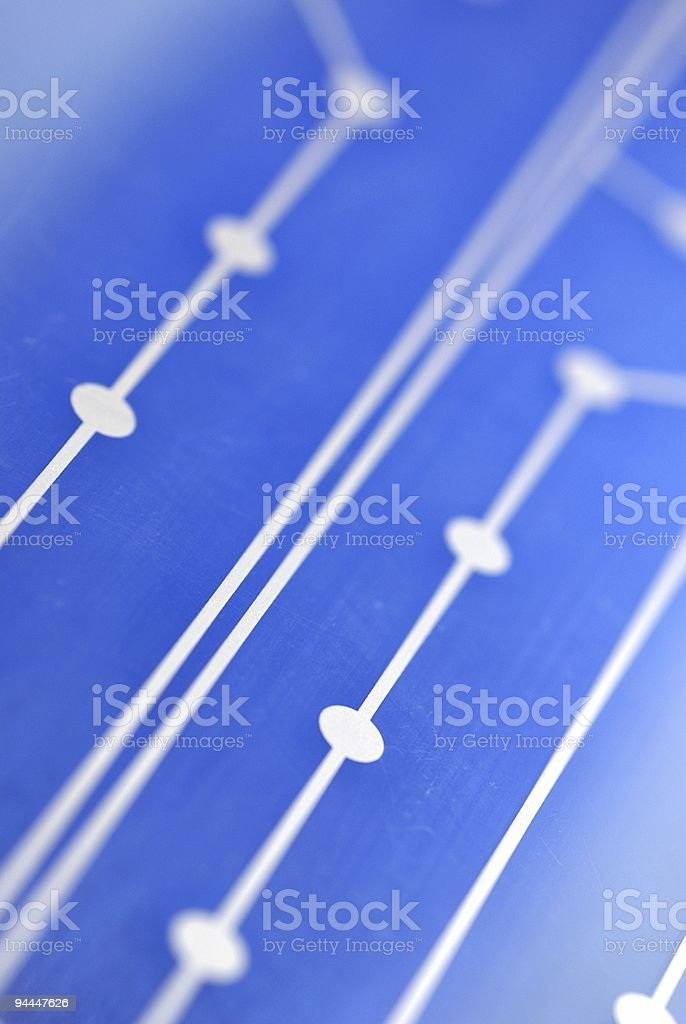 Blue technology stock photo