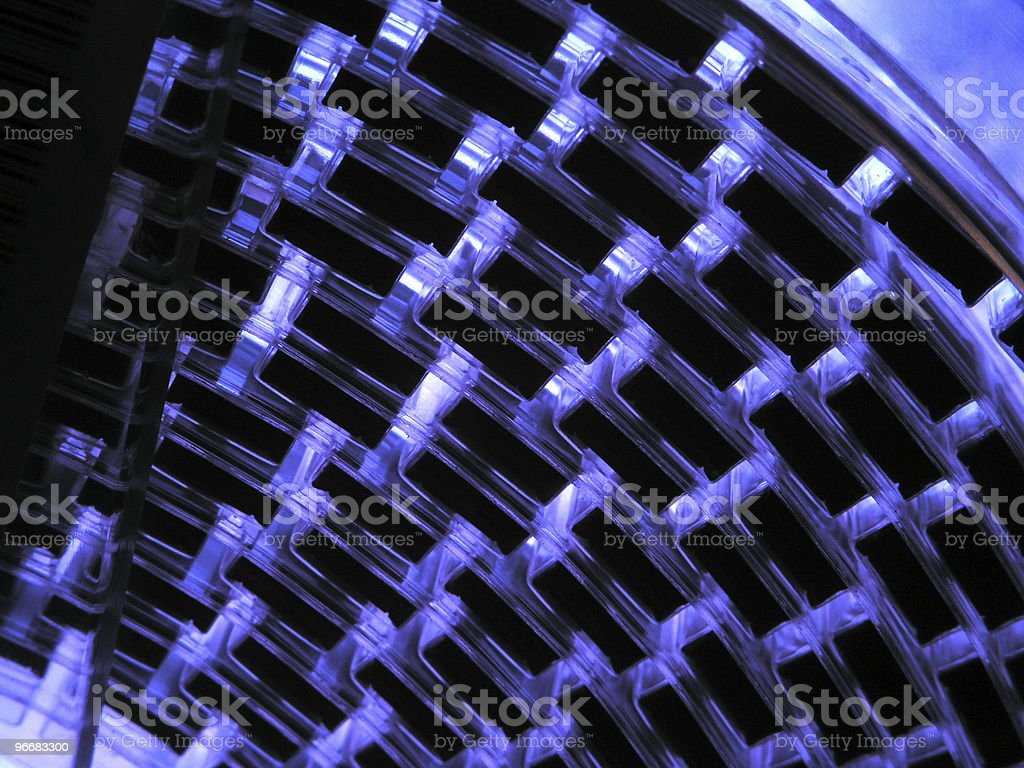 Blue - TECHNOLOGY royalty-free stock photo