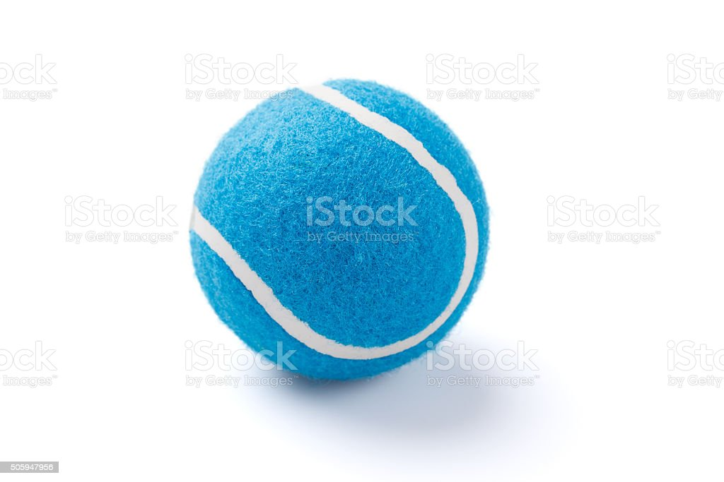 Blue Tennis ball stock photo