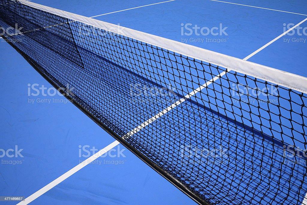 blue tennis court royalty-free stock photo