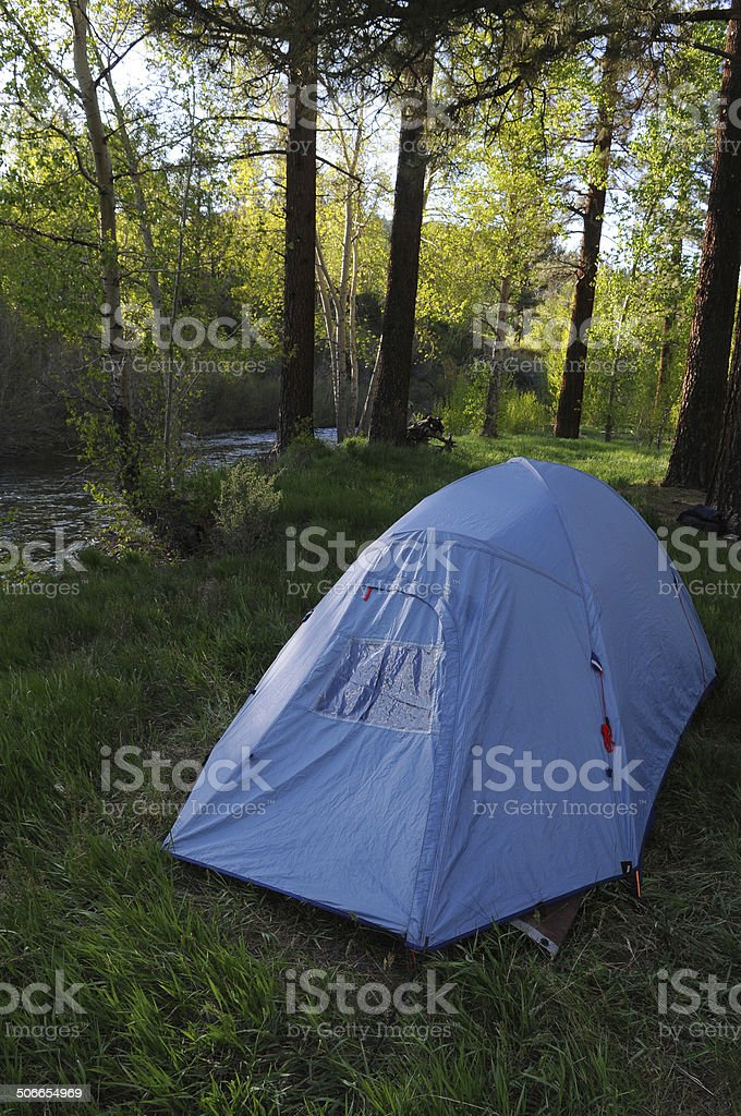 Blue Tent royalty-free stock photo