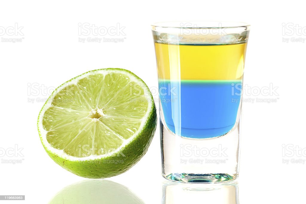Blue Tequila alcohol cocktail royalty-free stock photo