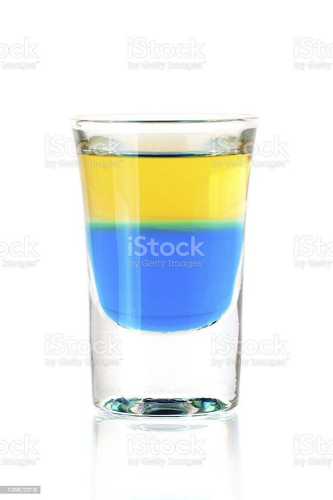 Blue Tequila cocktail royalty-free stock photo