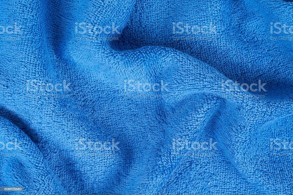 Blue terry towel stock photo