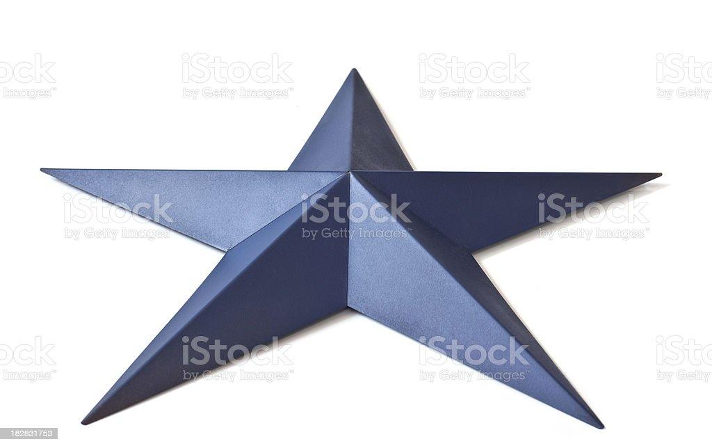 Blue Texas Star stock photo