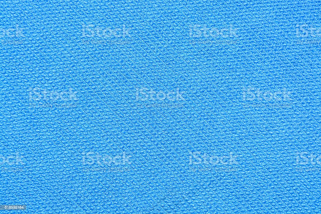 Blue texture of jersey fabrics, polyamide close up stock photo