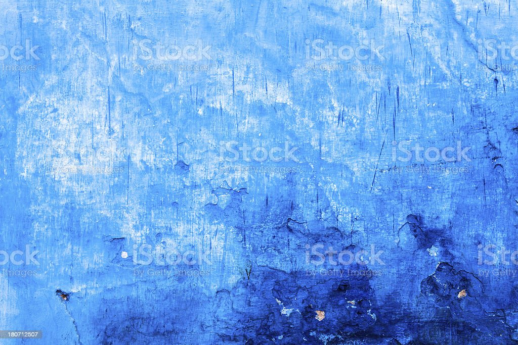 Blue Textured Background, Old Painted Wall royalty-free stock photo