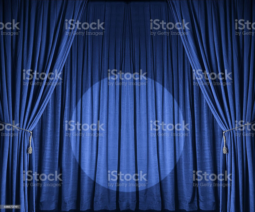 Blue Theatre Drapes royalty-free stock photo