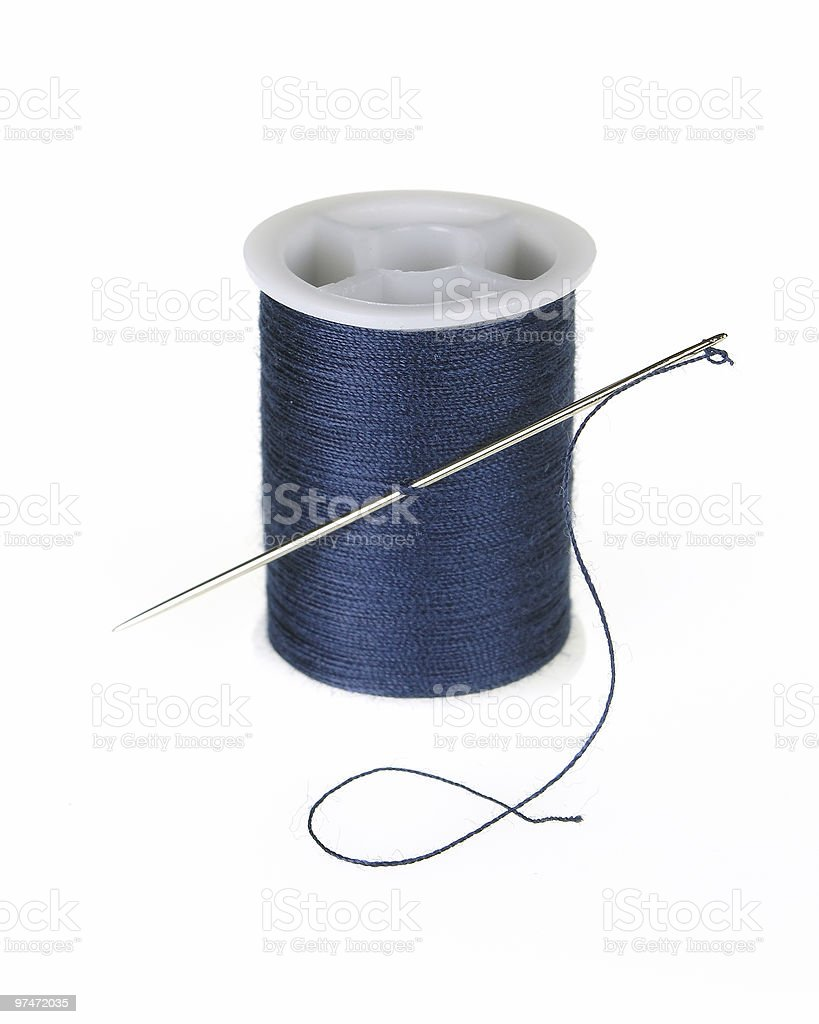 Blue Thread royalty-free stock photo