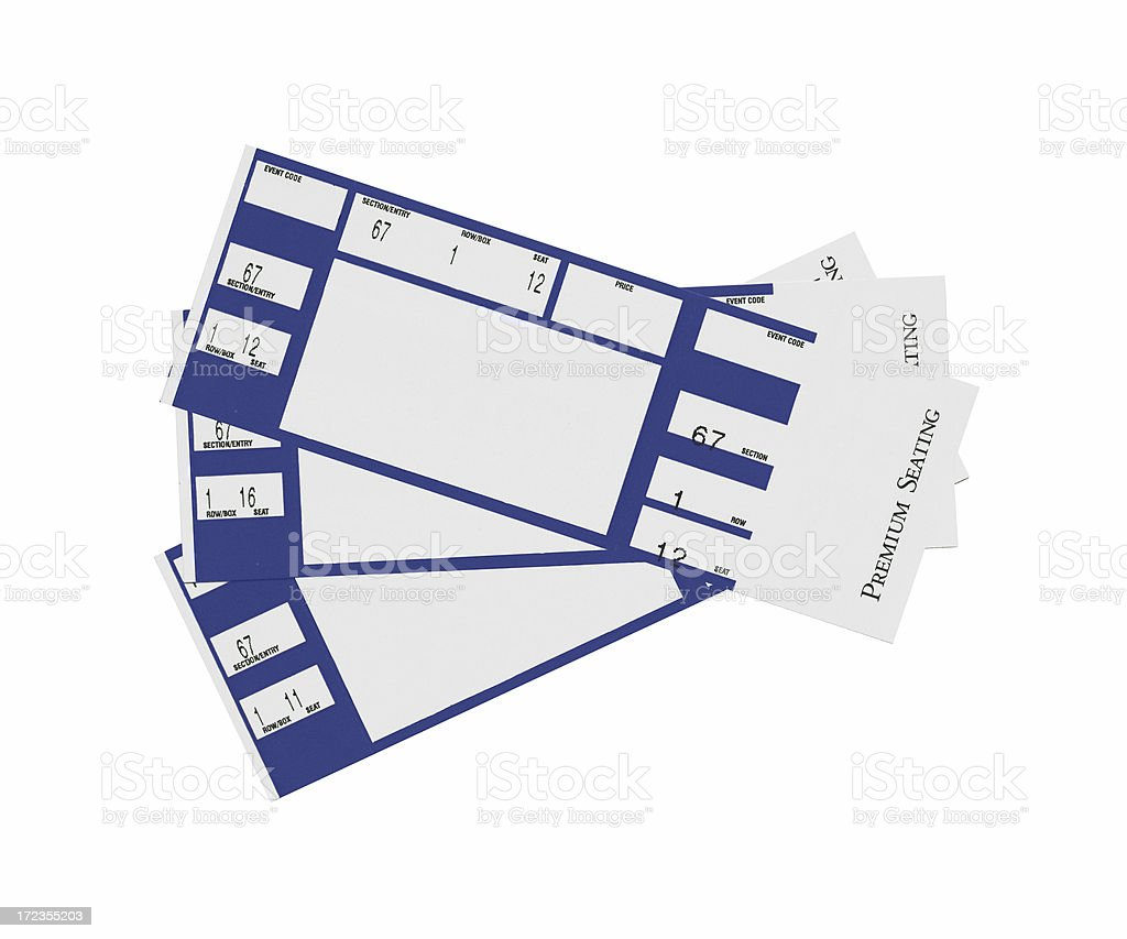 Blue Tickets stock photo