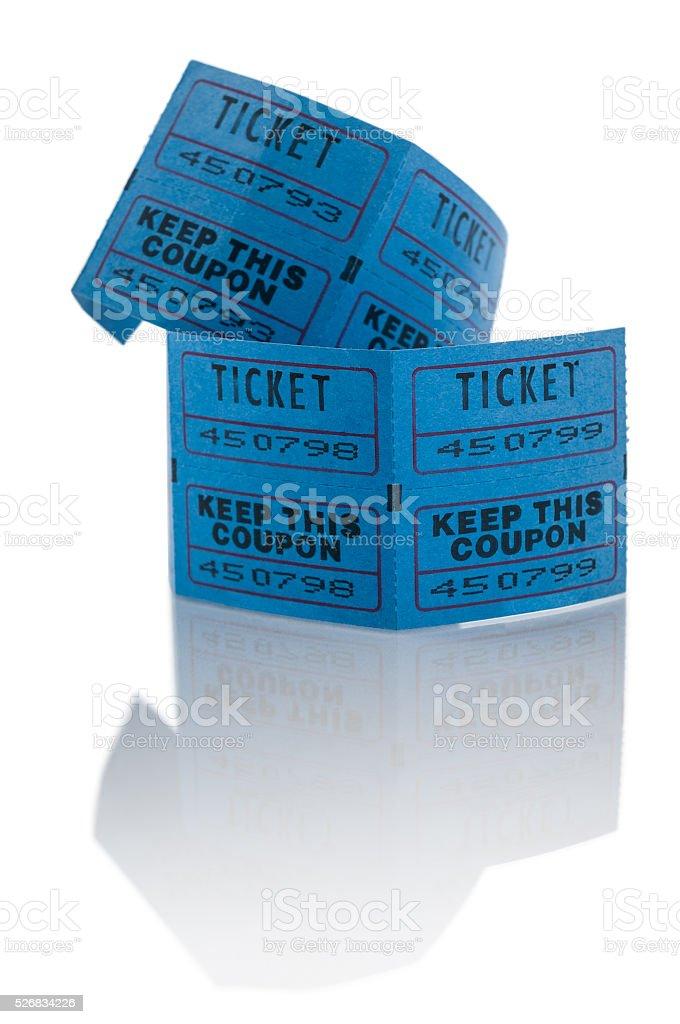 Blue tickets stock photo