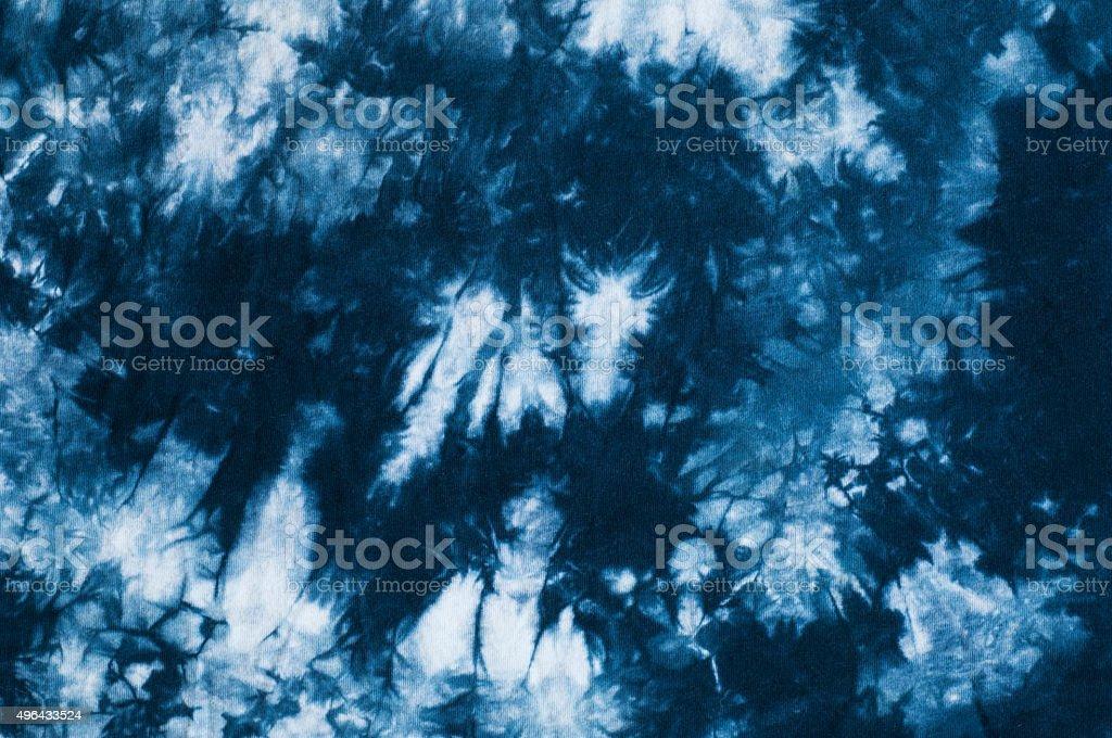 Blue tie dye background stock photo