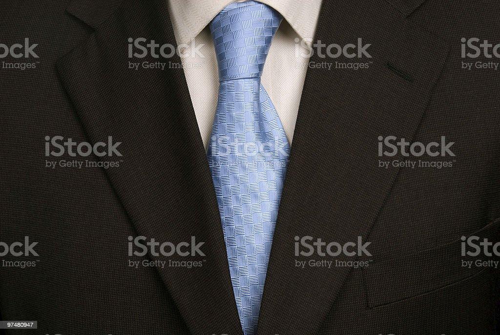 blue tie stock photo