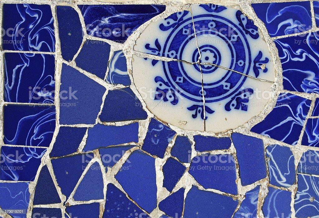 Blue Tile Decor, Barcelona royalty-free stock photo