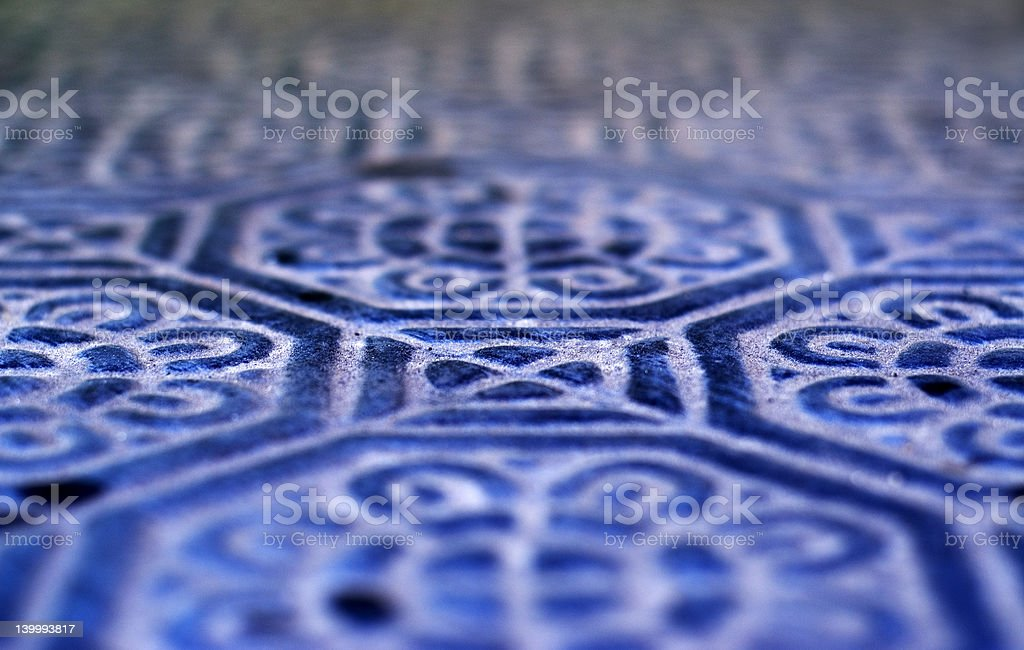 Blue tile design royalty-free stock photo