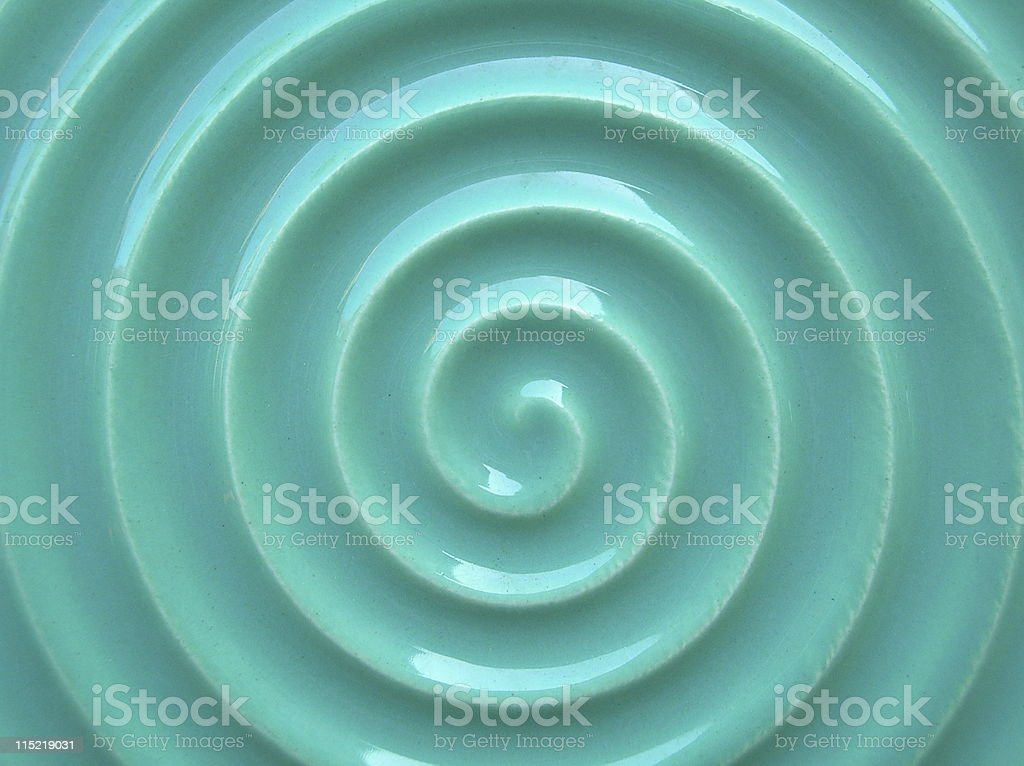 Blue tile swirl royalty-free stock photo