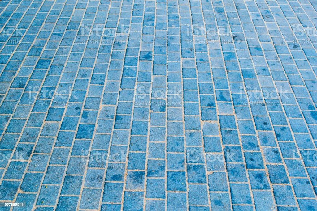 Blue Tiles Floor stock photo